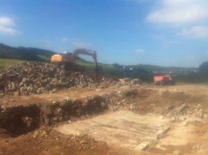 Aushub einer Baugrube in Bornheim