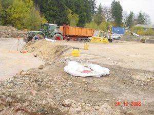 Abtransport des Abbruchmaterial zur Kippe