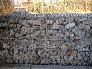 Gartenmauer Gabione